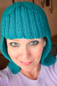 Blue hair-hat!